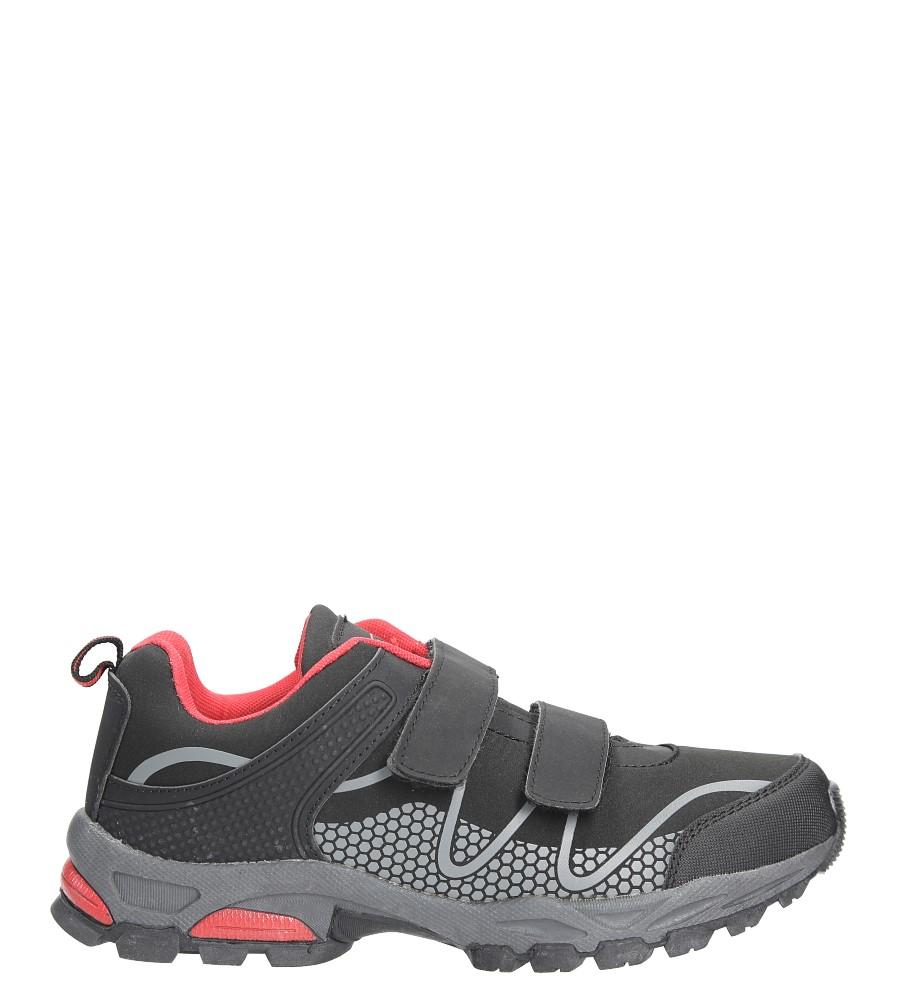 Czarne buty sportowe na rzepy softshell Casu A1529B-3