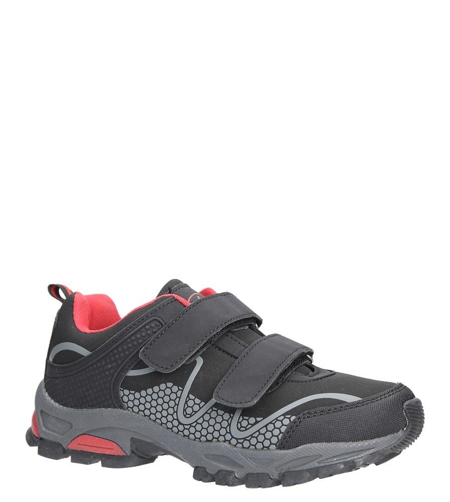 Czarne buty sportowe na rzepy softshell Casu B1529B-3