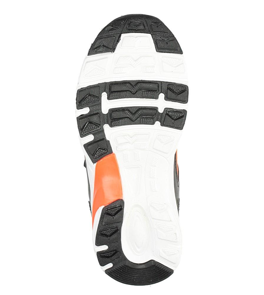 Czarne buty sportowe na rzepy ze skórzaną wkładką Casu F-698 wysokosc_platformy 1 cm