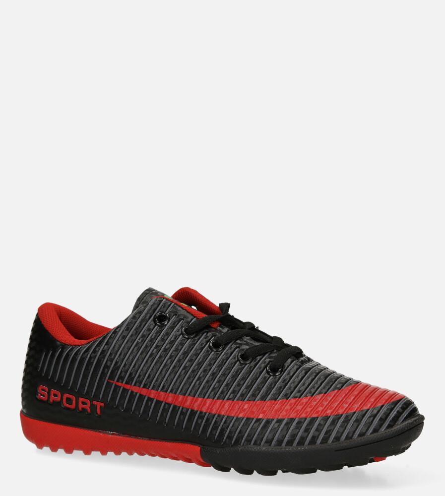 Czarne buty sportowe orliki sznurowane Casu 20M2/M producent Casu