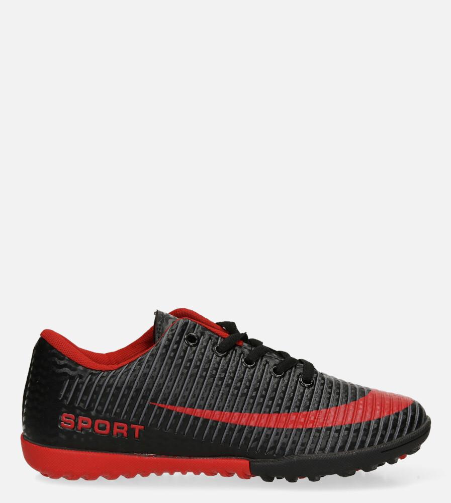 Czarne buty sportowe orliki sznurowane Casu 20M2/M