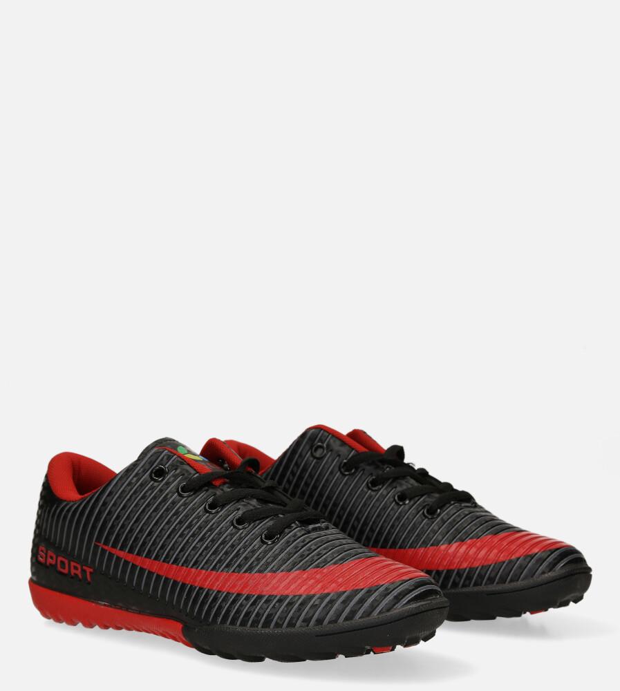 Czarne buty sportowe orliki sznurowane Casu 20M2/M kolor bordowy, czarny