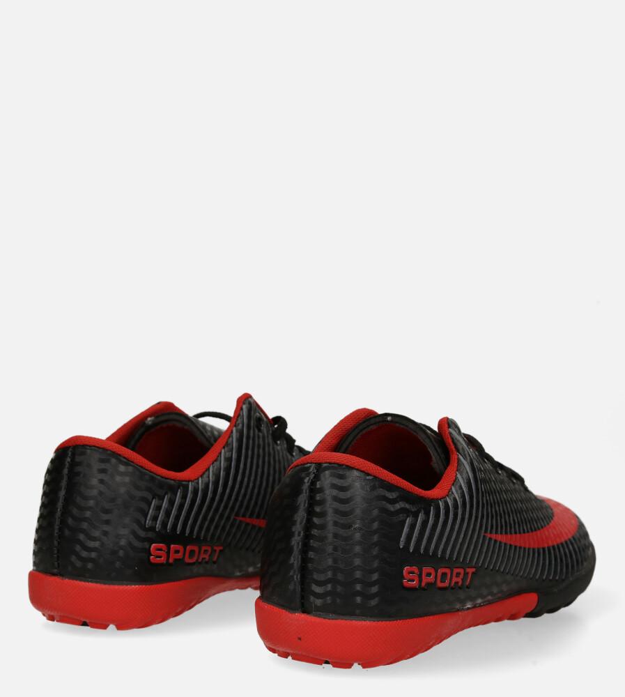 Czarne buty sportowe orliki sznurowane Casu 20M2/M wysokosc_platformy 1.5 cm