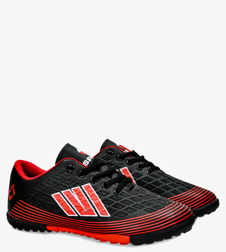 Czarne buty sportowe orliki sznurowane Casu 21M1/M czarny