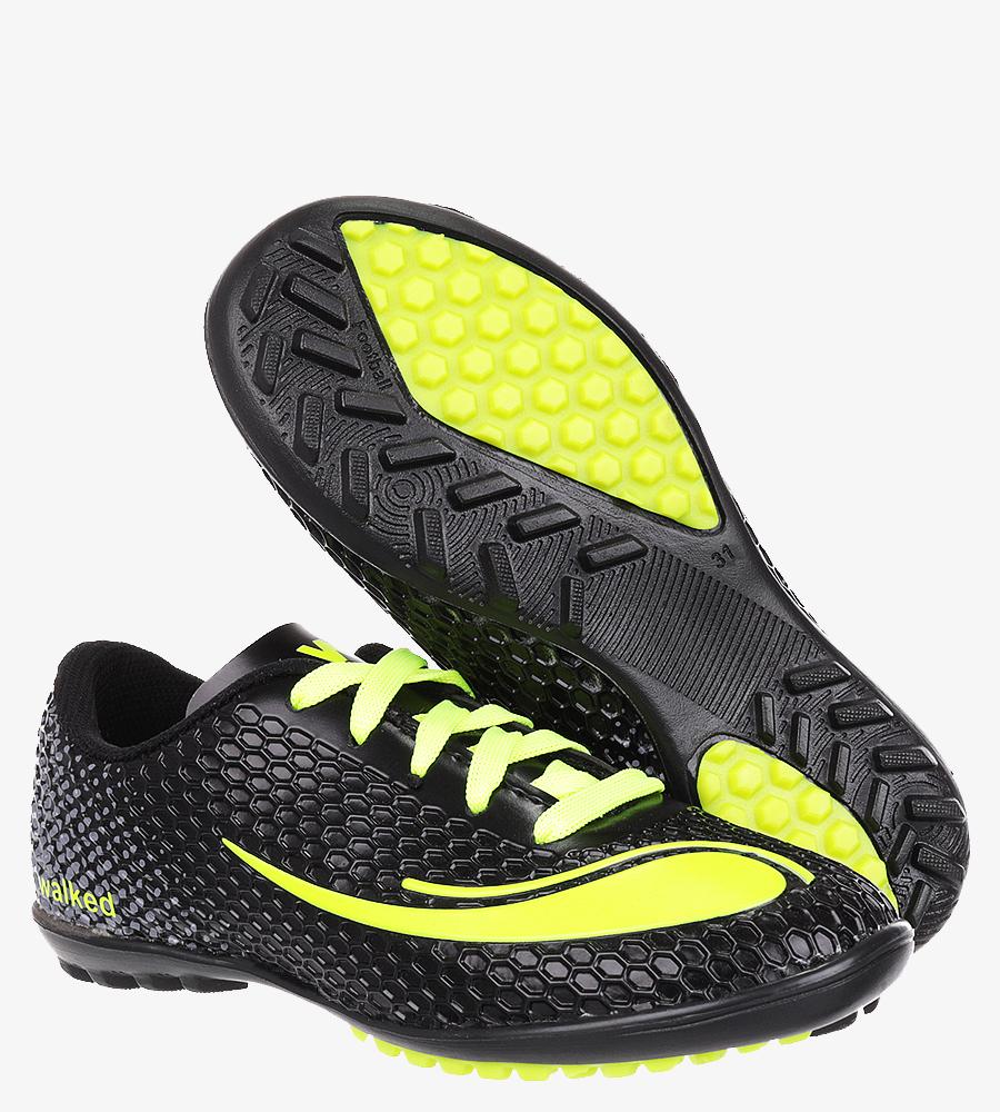 Czarne buty sportowe orliki sznurowane Casu D415-33 czarny