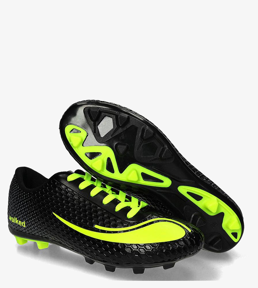 Czarne buty sportowe orliki sznurowane Casu DH415-6 czarny