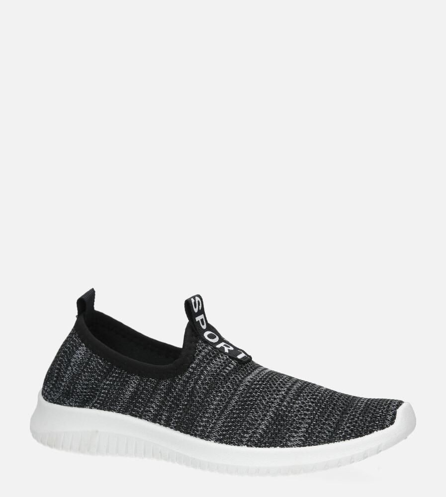 Czarne buty sportowe slip on Casu B68-1 czarny