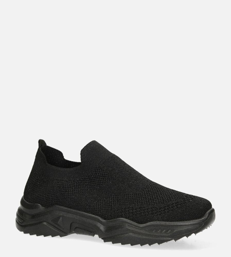 Czarne buty sportowe slip on Casu H663-1908 czarny