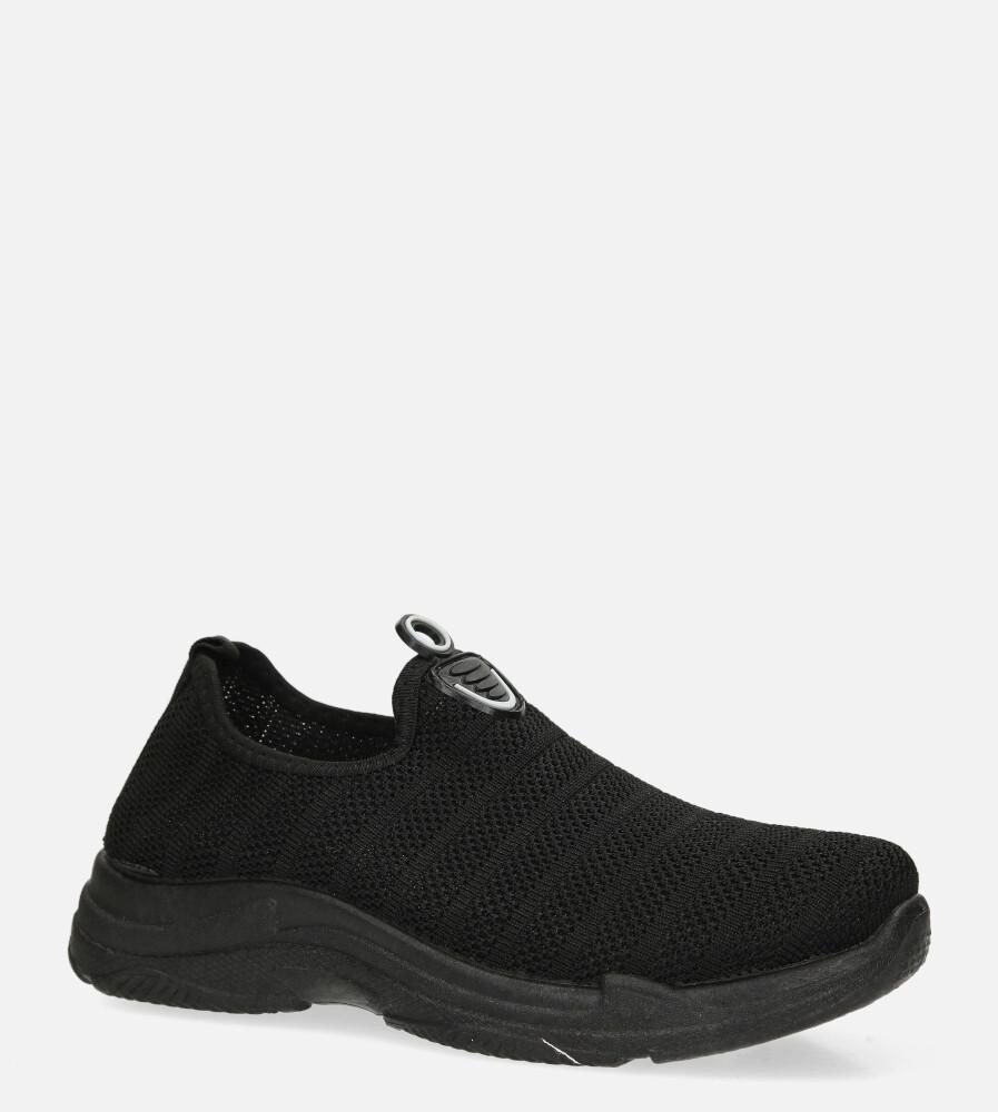 Czarne buty sportowe slip on Casu YZ07-1