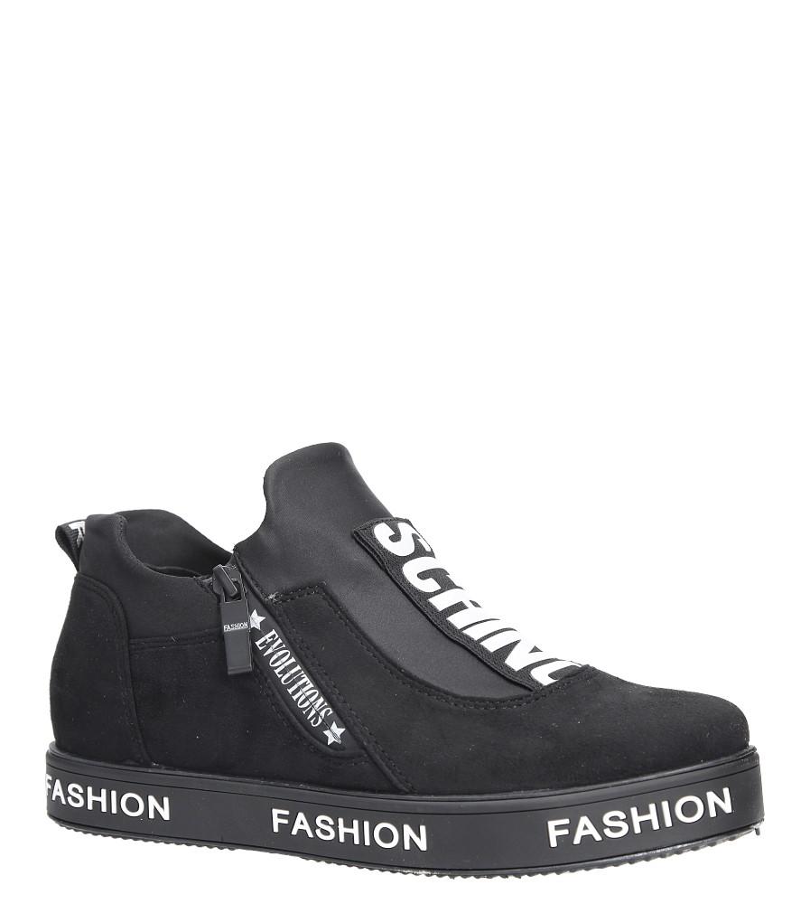 Czarne buty sportowe sneakersy Casu PB-2