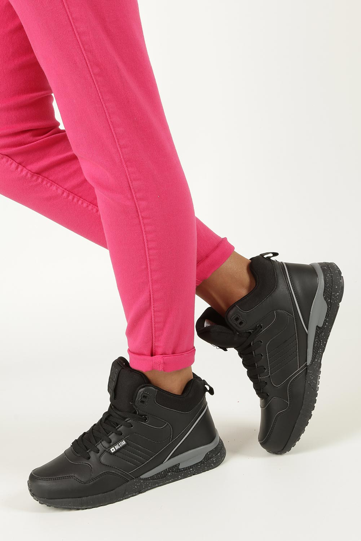 Czarne buty sportowe sneakersy ocieplane sznurowane Big Star BB274639