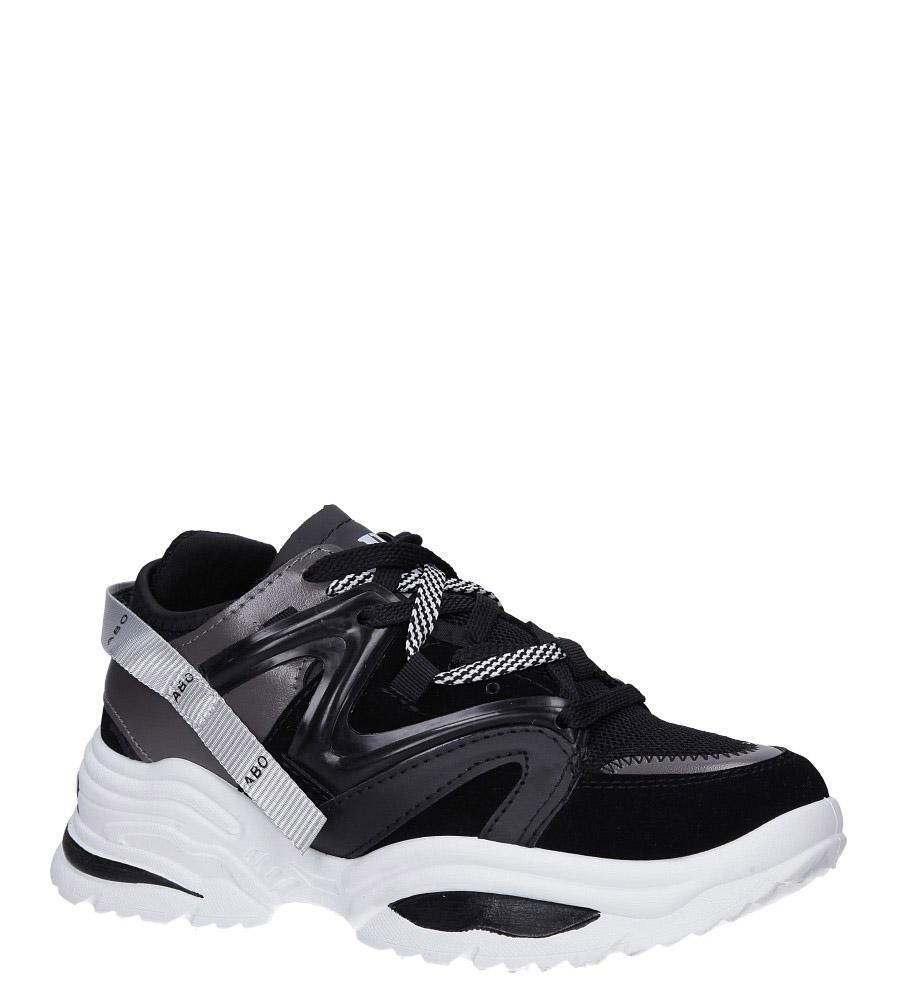 Czarne buty sportowe sneakersy sznurowane Casu 180816 czarny