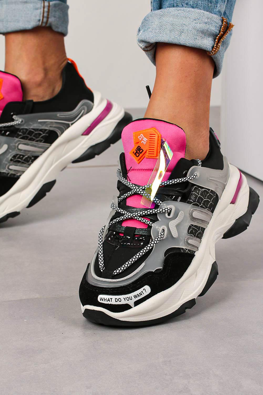 Czarne buty sportowe sneakersy sznurowane Casu 20G7/B  producent Casu