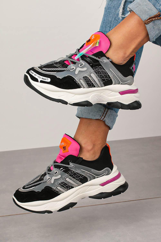 Czarne buty sportowe sneakersy sznurowane Casu 20G7/B  wysokosc_obcasa 5 cm