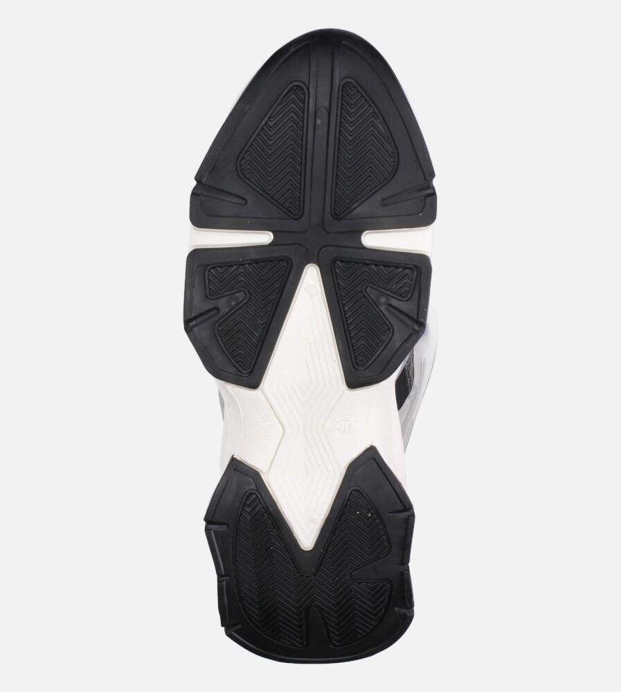 Czarne buty sportowe sneakersy sznurowane Casu 20G7/B  wnetrze materiał