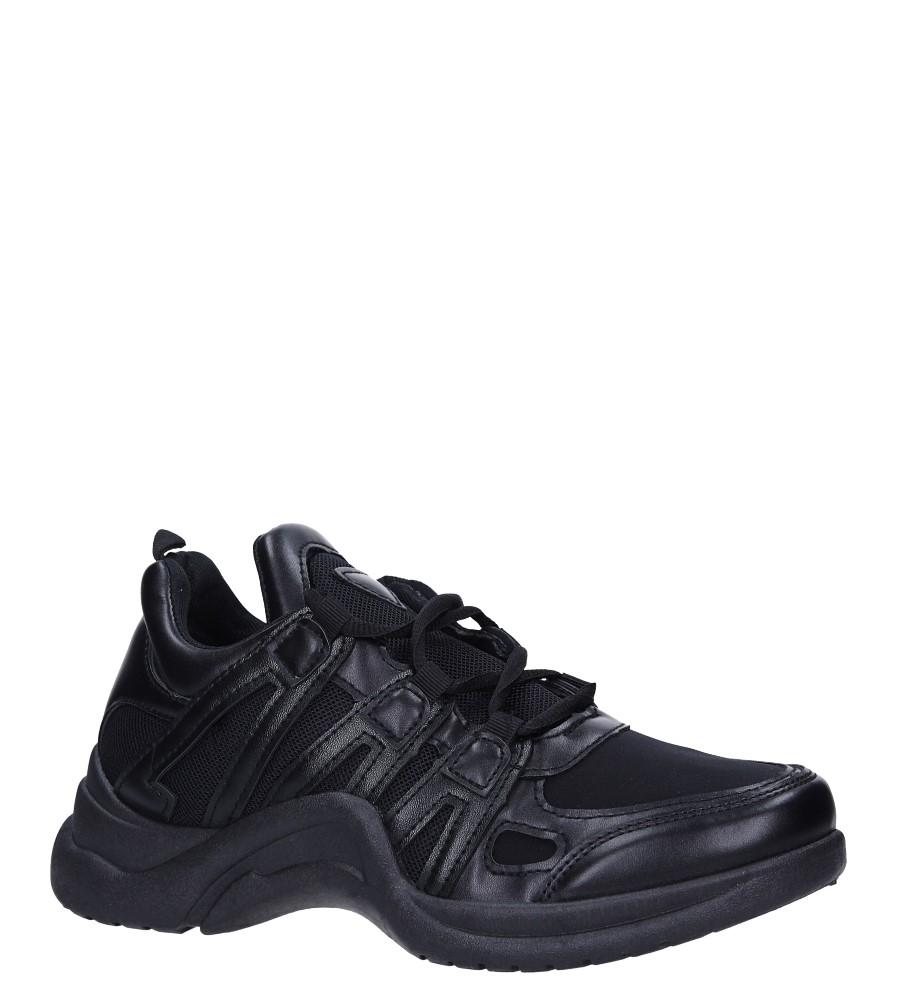 Czarne buty sportowe sneakersy sznurowane Casu 7-K573A czarny