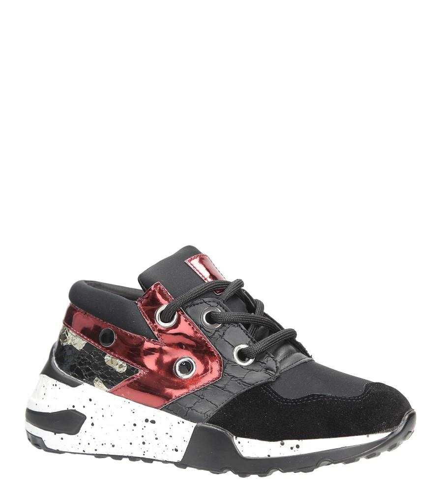 Czarne buty sportowe sneakersy sznurowane Casu 7-K587A czarny