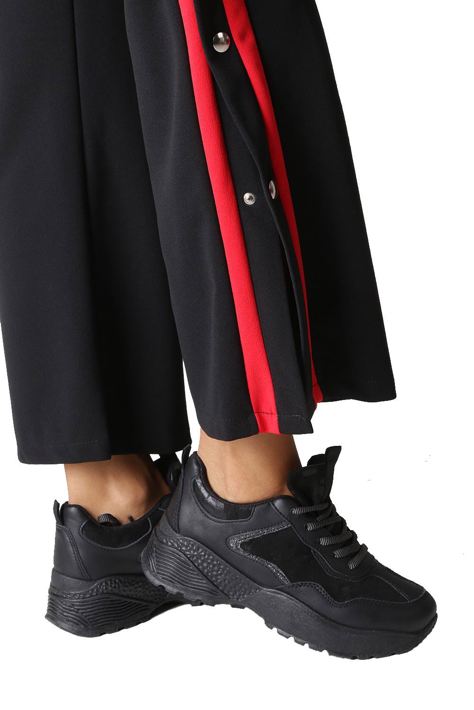 Czarne buty sportowe sneakersy sznurowane Casu 7-K591A