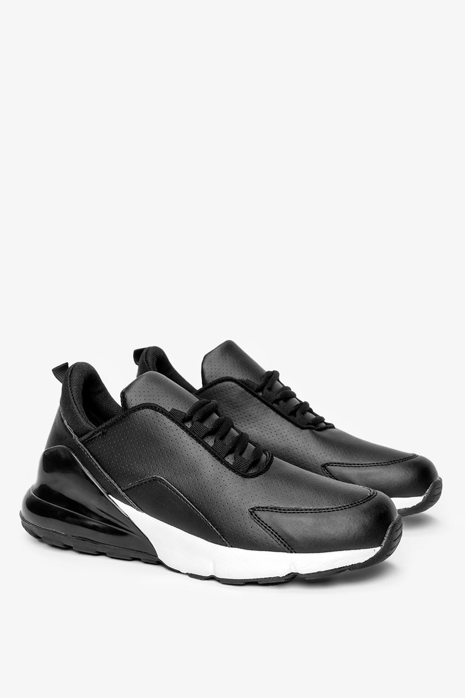 Czarne buty sportowe sneakersy sznurowane Casu D26-1