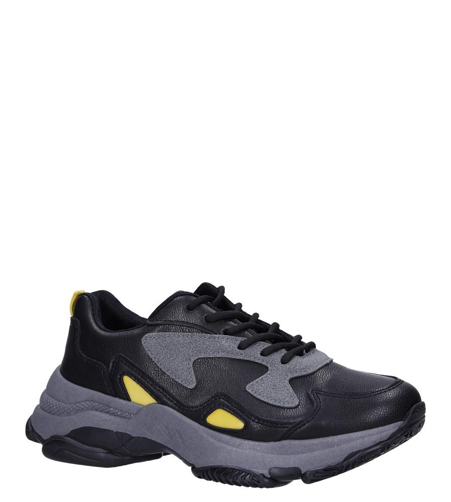 Czarne buty sportowe sneakersy sznurowane Casu DS13003
