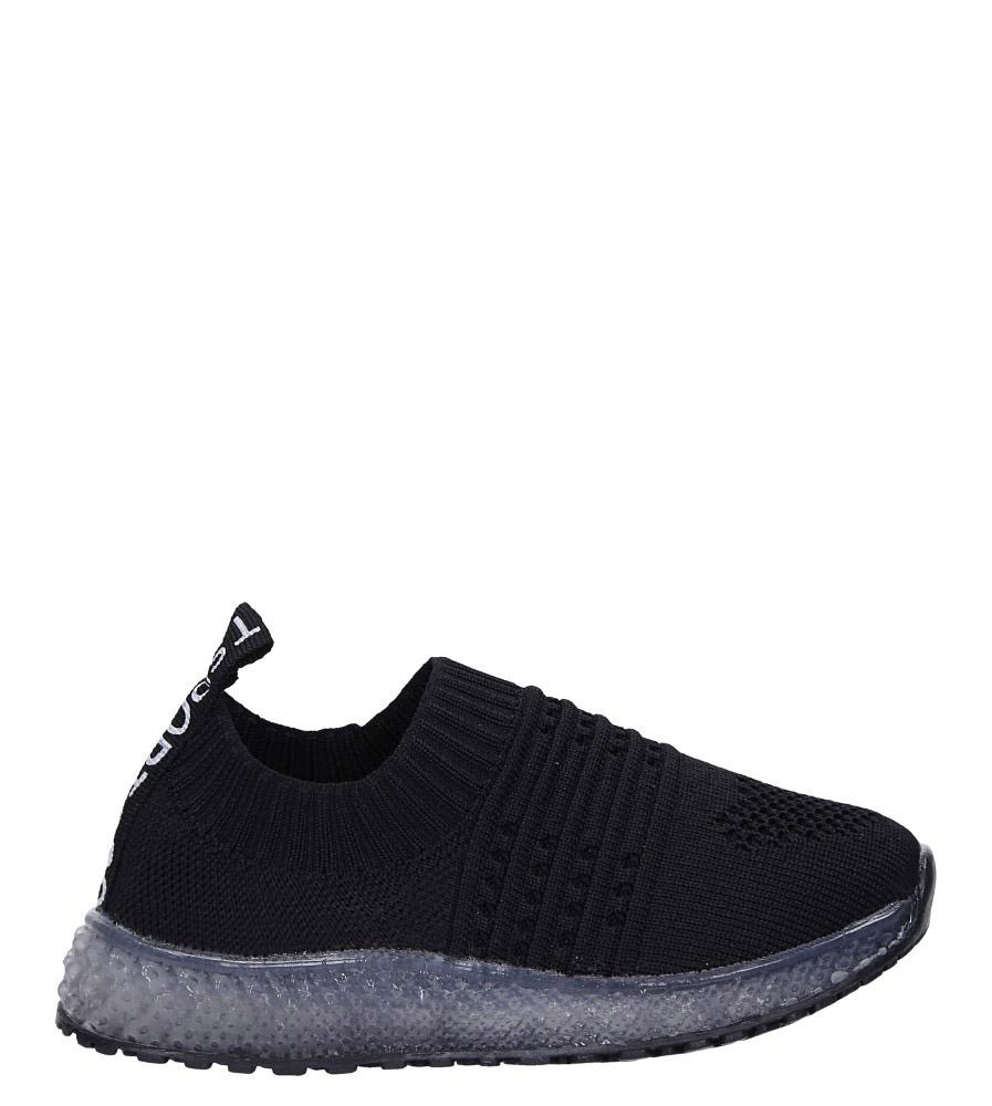 Czarne buty sportowe świecące led Casu 1907 czarny
