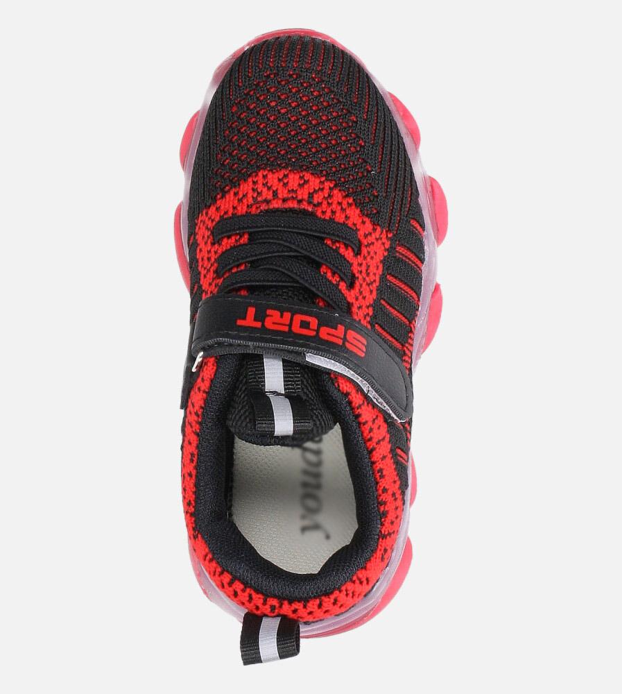 Czarne buty sportowe na rzep Casu 706 wysokosc_obcasa 3 cm