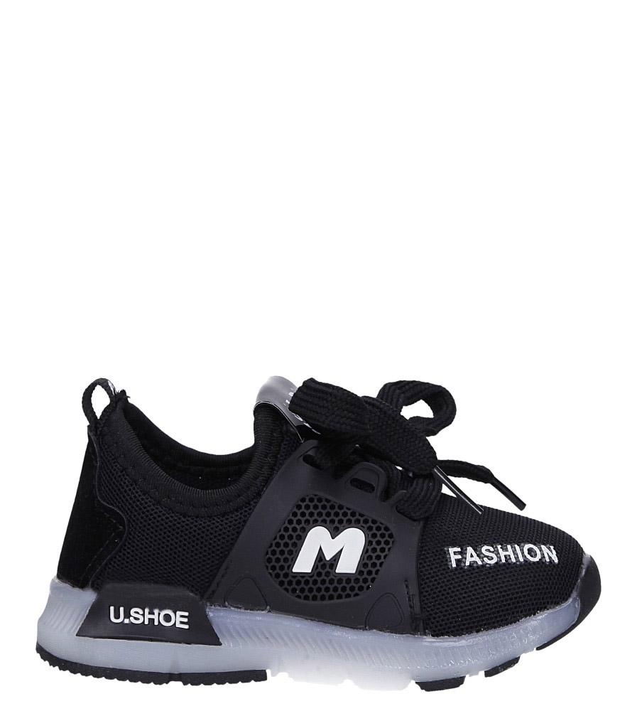 Czarne buty sportowe świecące led sznurowane Casu 332 czarny
