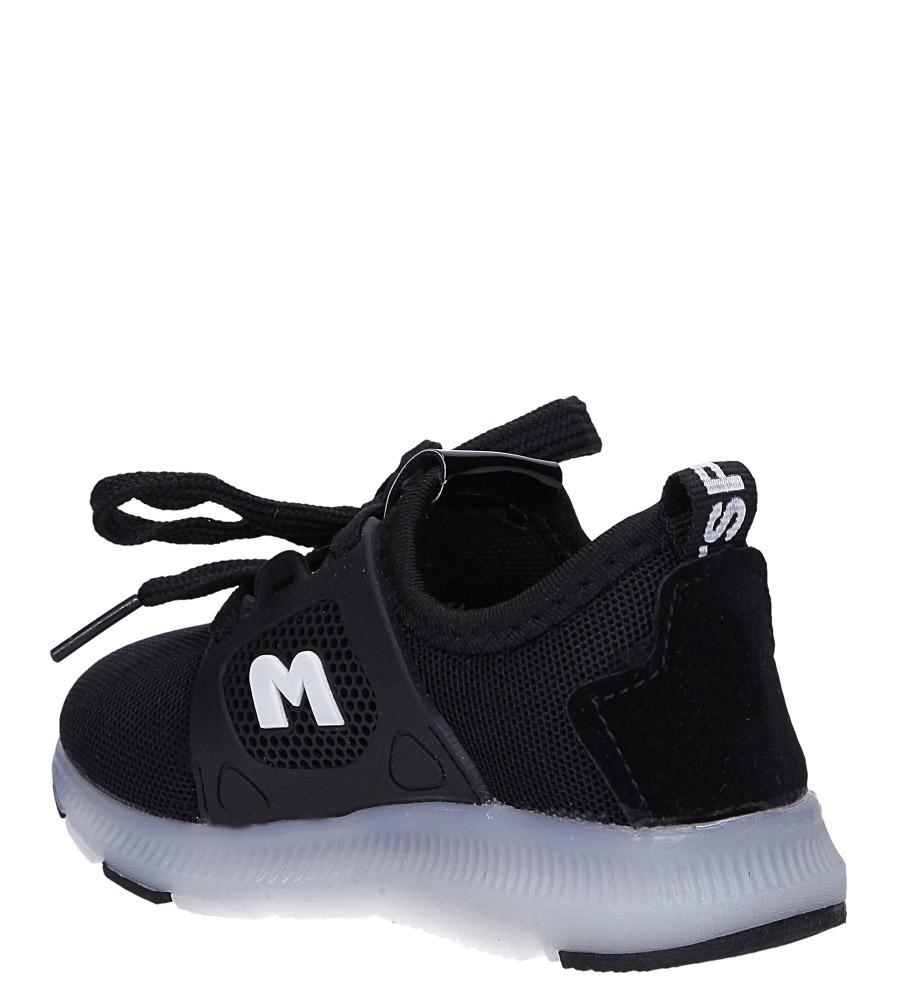 Czarne buty sportowe sznurowane Casu 332 sezon Całoroczny