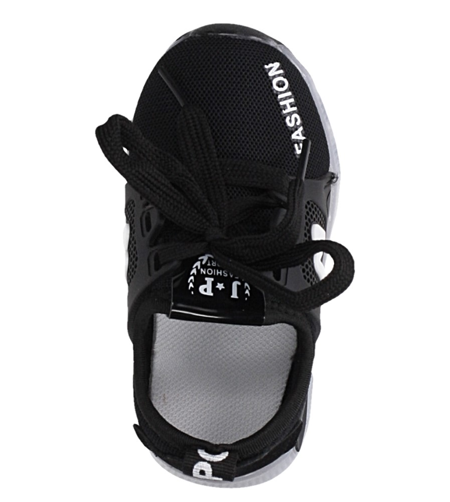 Czarne buty sportowe sznurowane Casu 332 kolor czarny