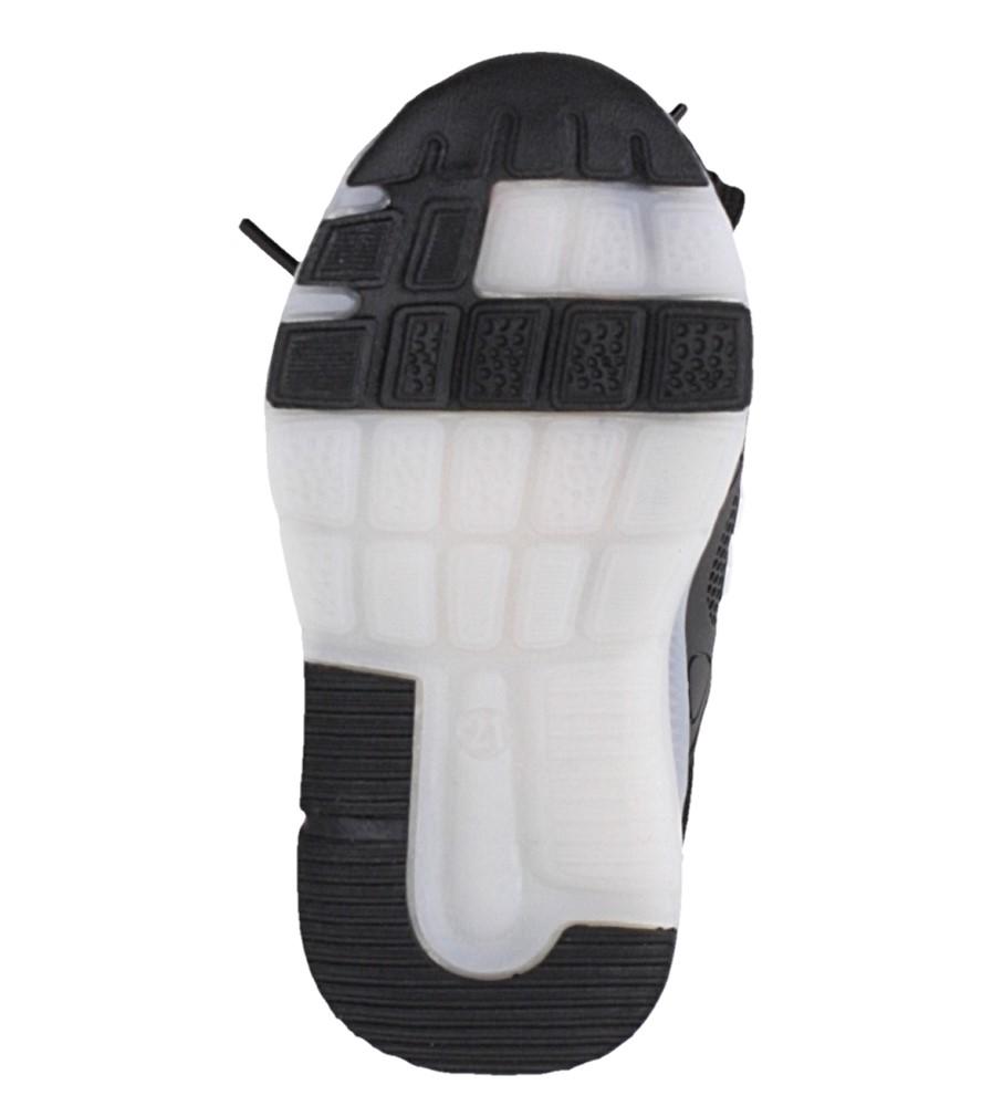 Czarne buty sportowe sznurowane Casu 332 wysokosc_platformy 1 cm