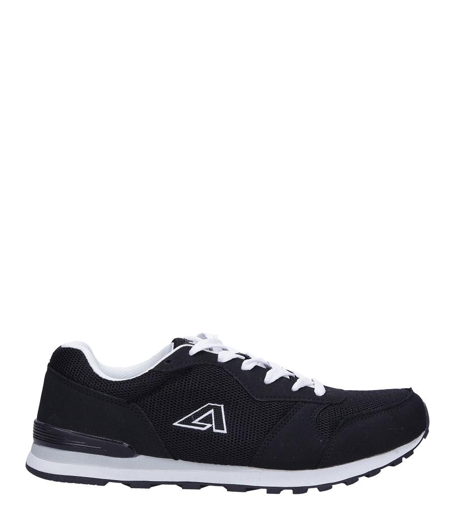 Czarne buty sportowe sznurowane American 12 czarny