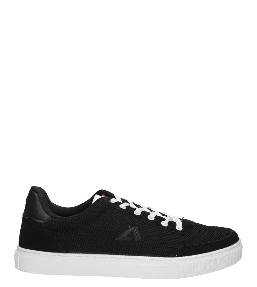 Czarne buty sportowe sznurowane American FH17005 czarny