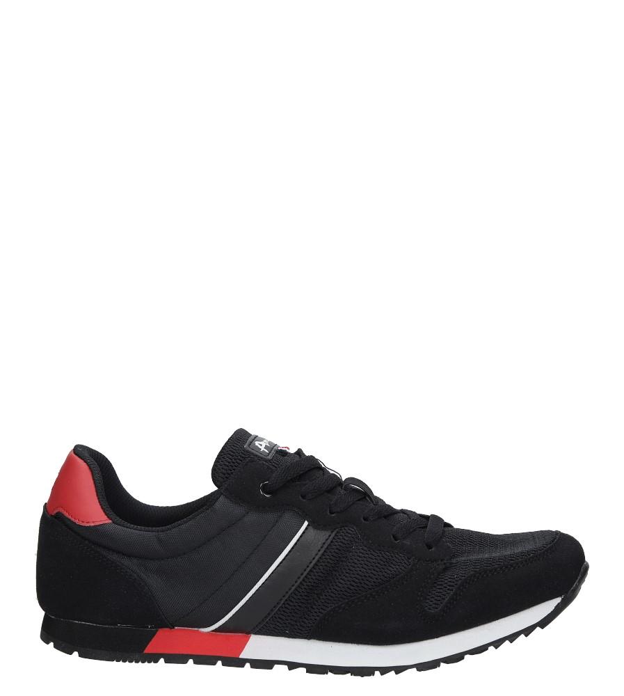 Czarne buty sportowe sznurowane American FH17014