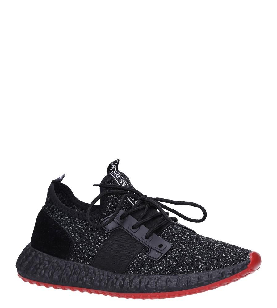 Czarne buty sportowe sznurowane Casu 169