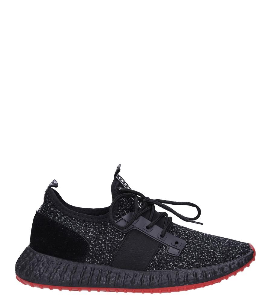 Czarne buty sportowe sznurowane Casu 169 model 169