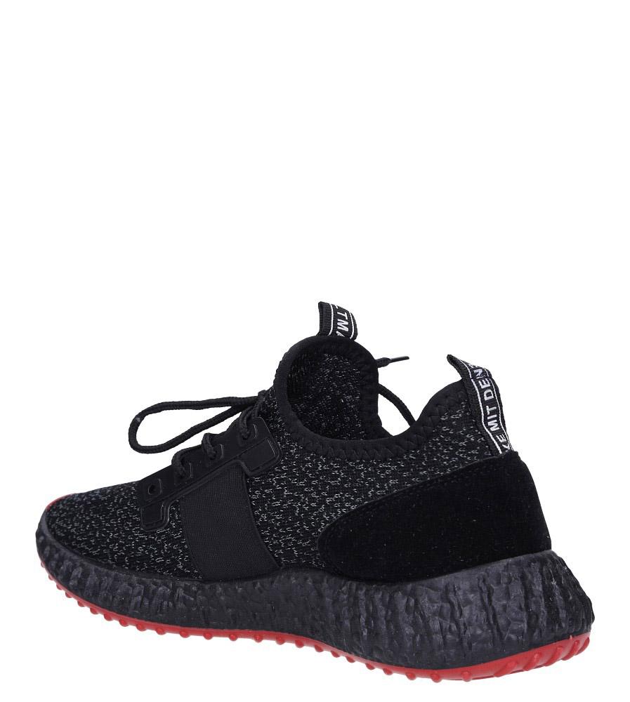 Czarne buty sportowe sznurowane Casu 169 sezon Całoroczny