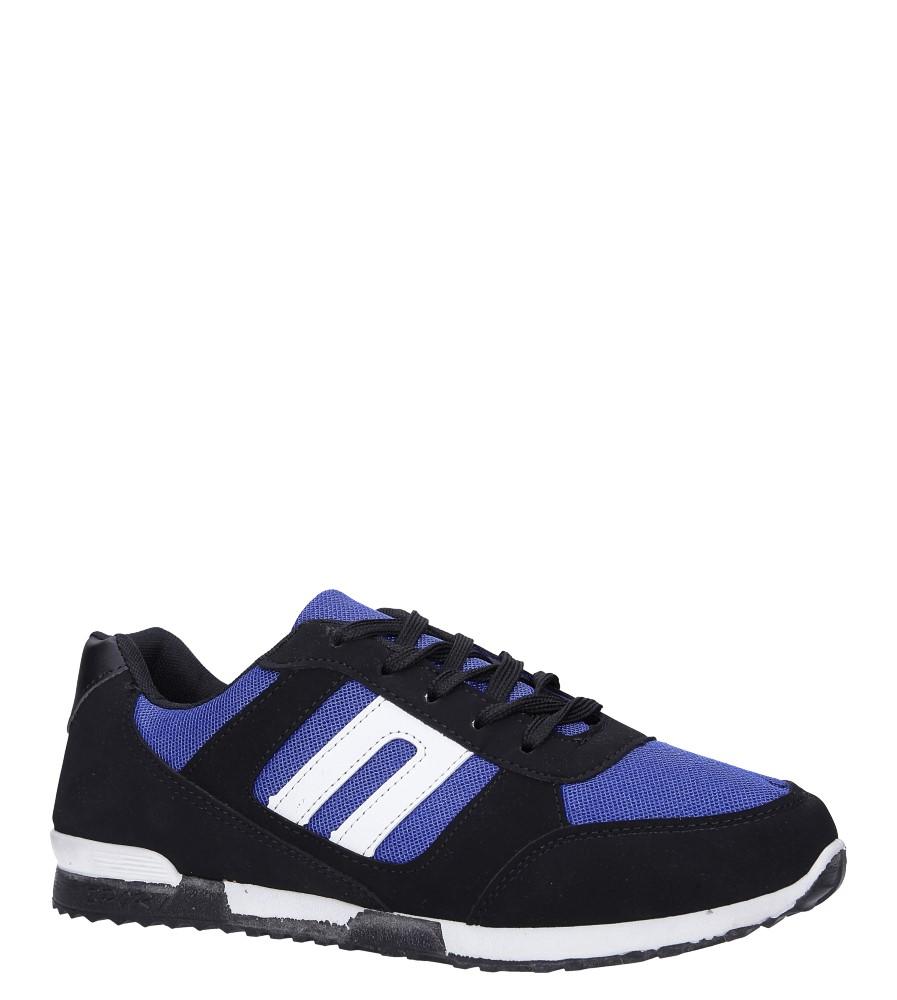 Czarne buty sportowe sznurowane Casu 17009-24
