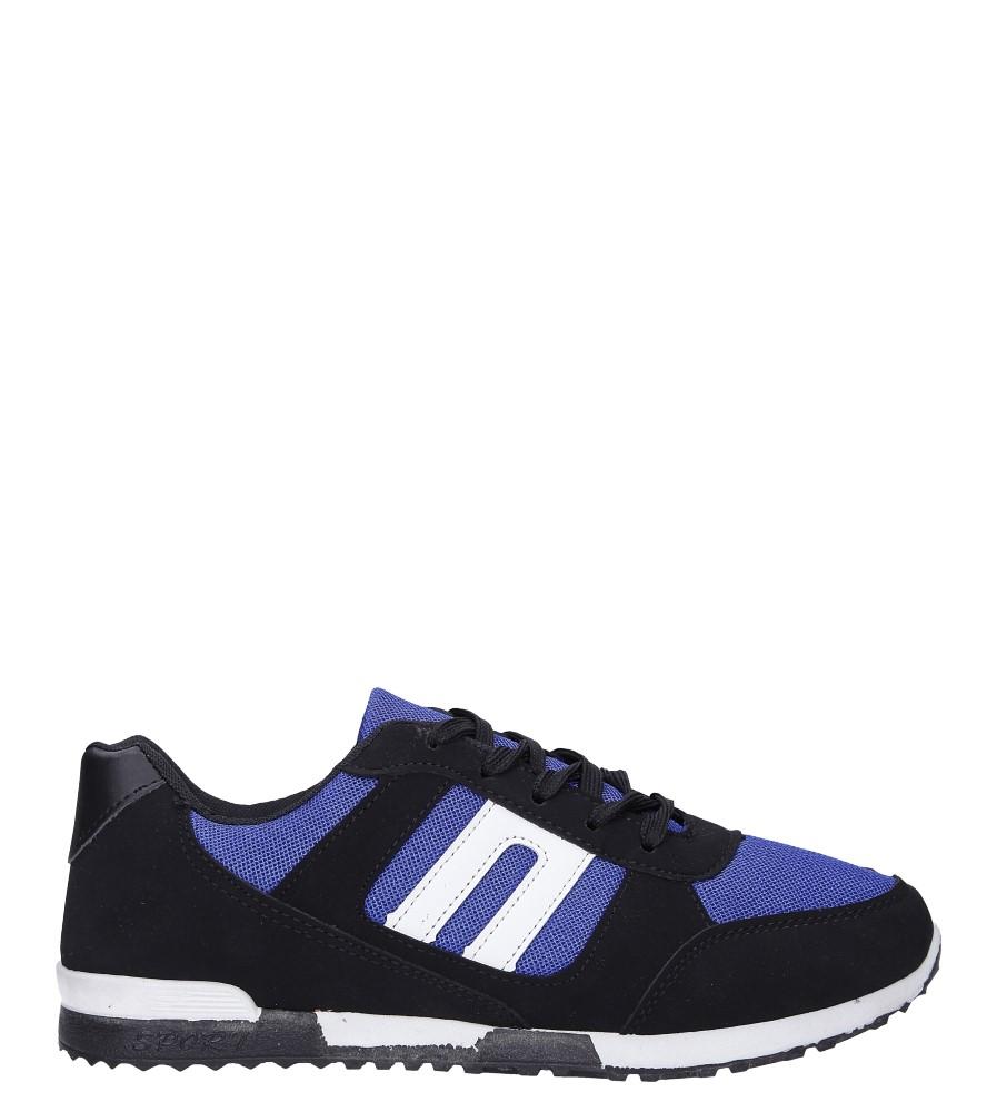 Czarne buty sportowe sznurowane Casu 17009-24 czarny