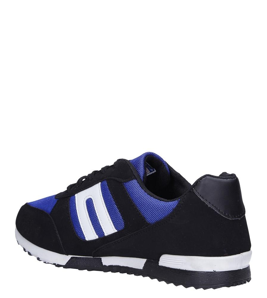 Czarne buty sportowe sznurowane Casu 17009-24 sezon Całoroczny