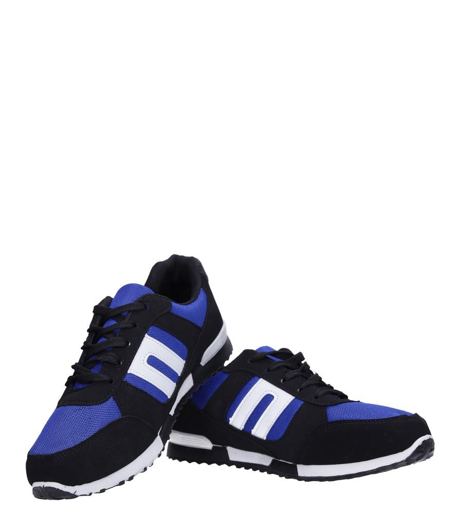 Czarne buty sportowe sznurowane Casu 17009-24 kolor czarny