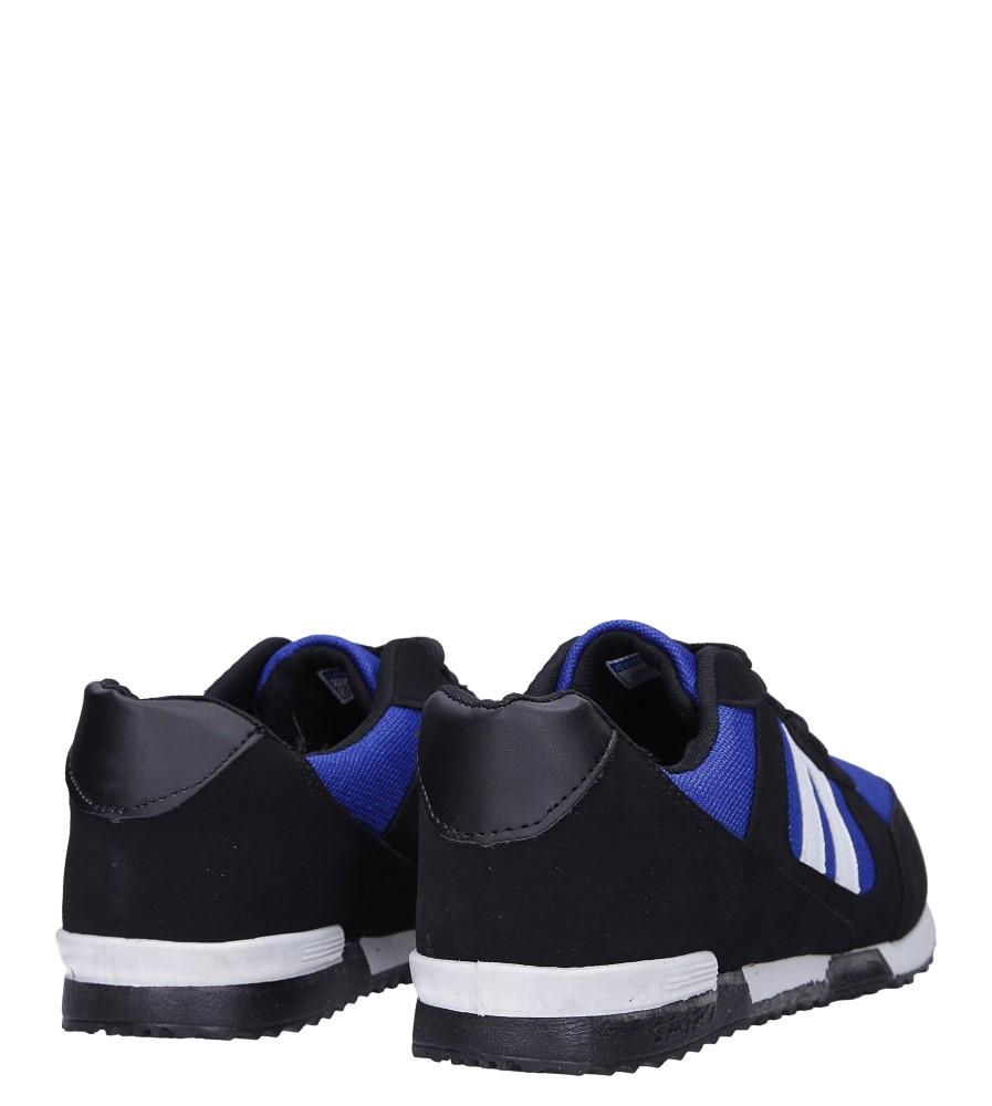 Czarne buty sportowe sznurowane Casu 17009-24 wysokosc_platformy 1 cm