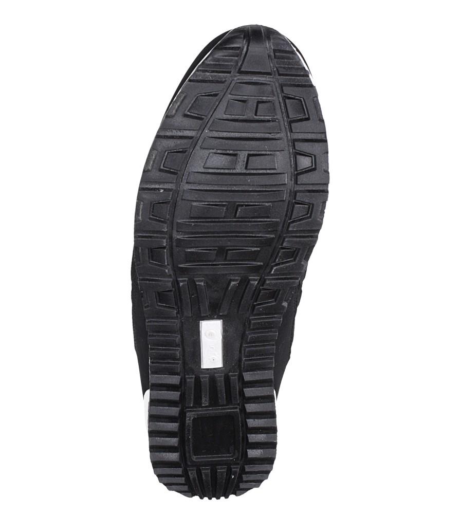 Czarne buty sportowe sznurowane Casu 17009-24 wierzch materiał/skóra ekologiczna
