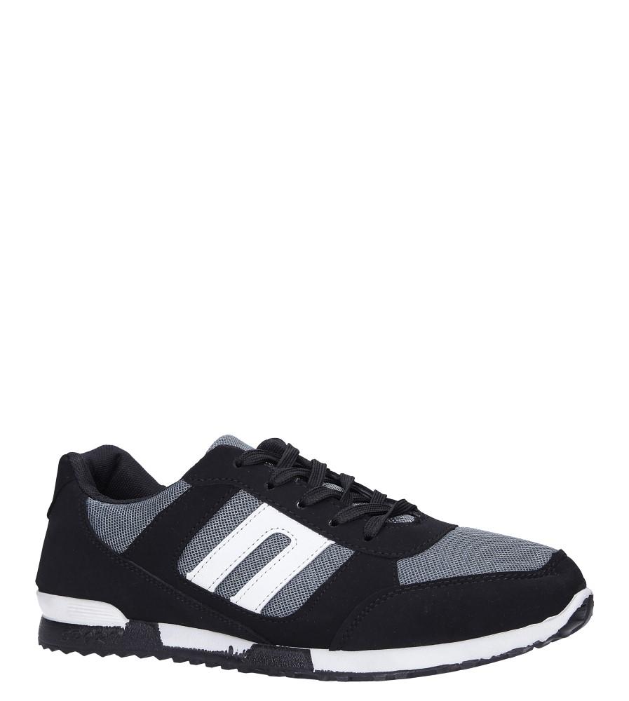 Czarne buty sportowe sznurowane Casu 17009-25
