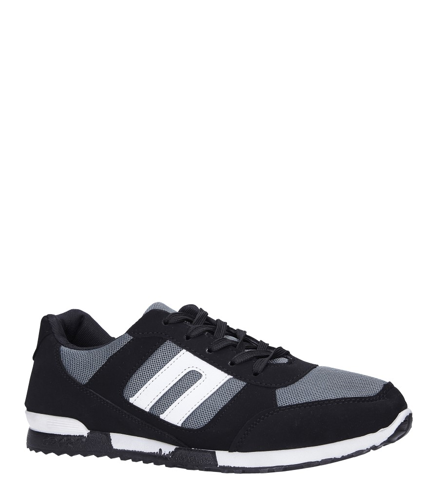 Czarne buty sportowe sznurowane Casu 17009-25 producent Casu
