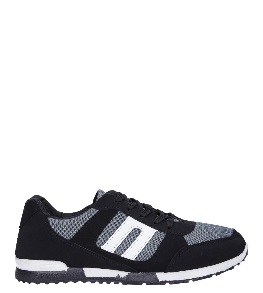 Czarne buty sportowe sznurowane Casu 17009-25 model 17009-25