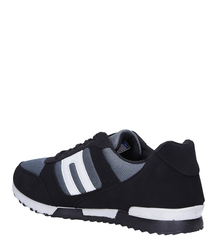 Czarne buty sportowe sznurowane Casu 17009-25 sezon Całoroczny