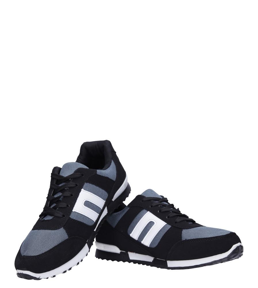 Czarne buty sportowe sznurowane Casu 17009-25 kolor czarny