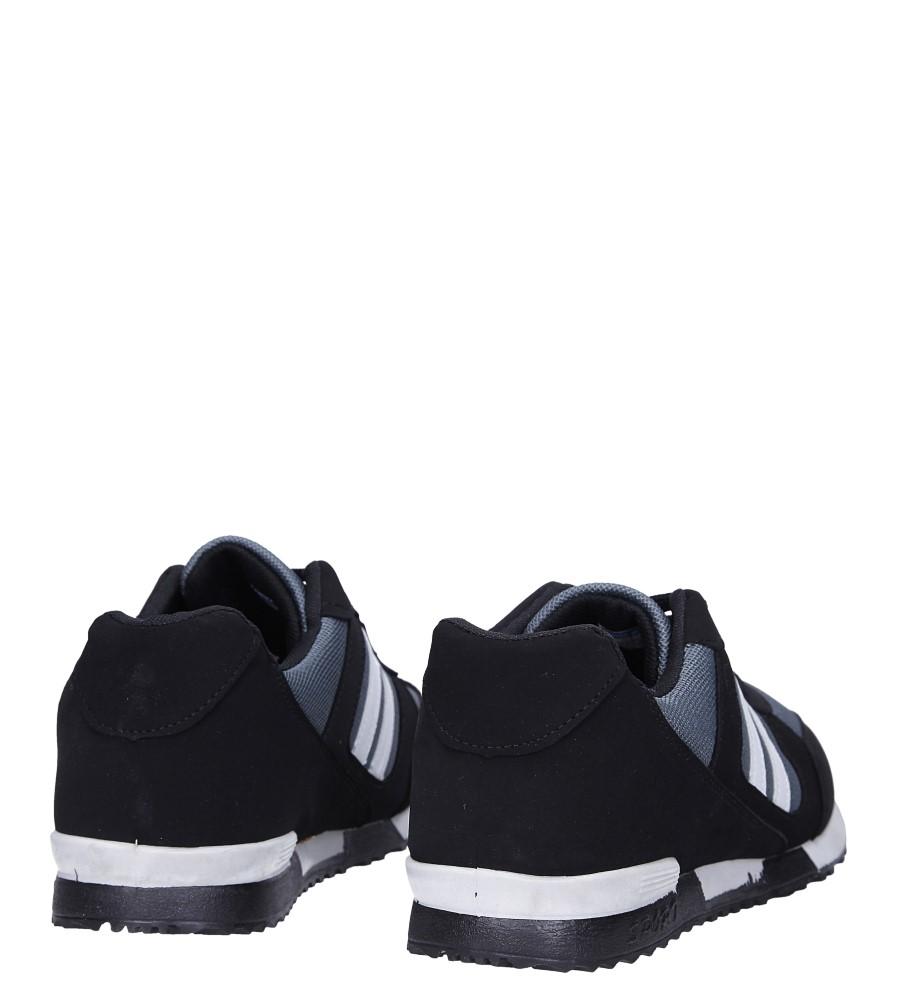 Czarne buty sportowe sznurowane Casu 17009-25 wysokosc_platformy 1 cm
