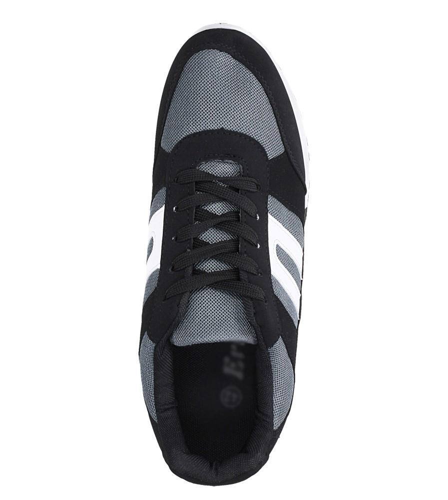 Czarne buty sportowe sznurowane Casu 17009-25 wys_calkowita_buta 12.5 cm