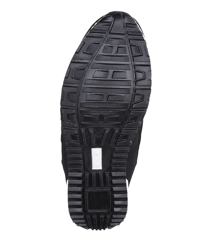 Czarne buty sportowe sznurowane Casu 17009-25 wierzch materiał/skóra ekologiczna